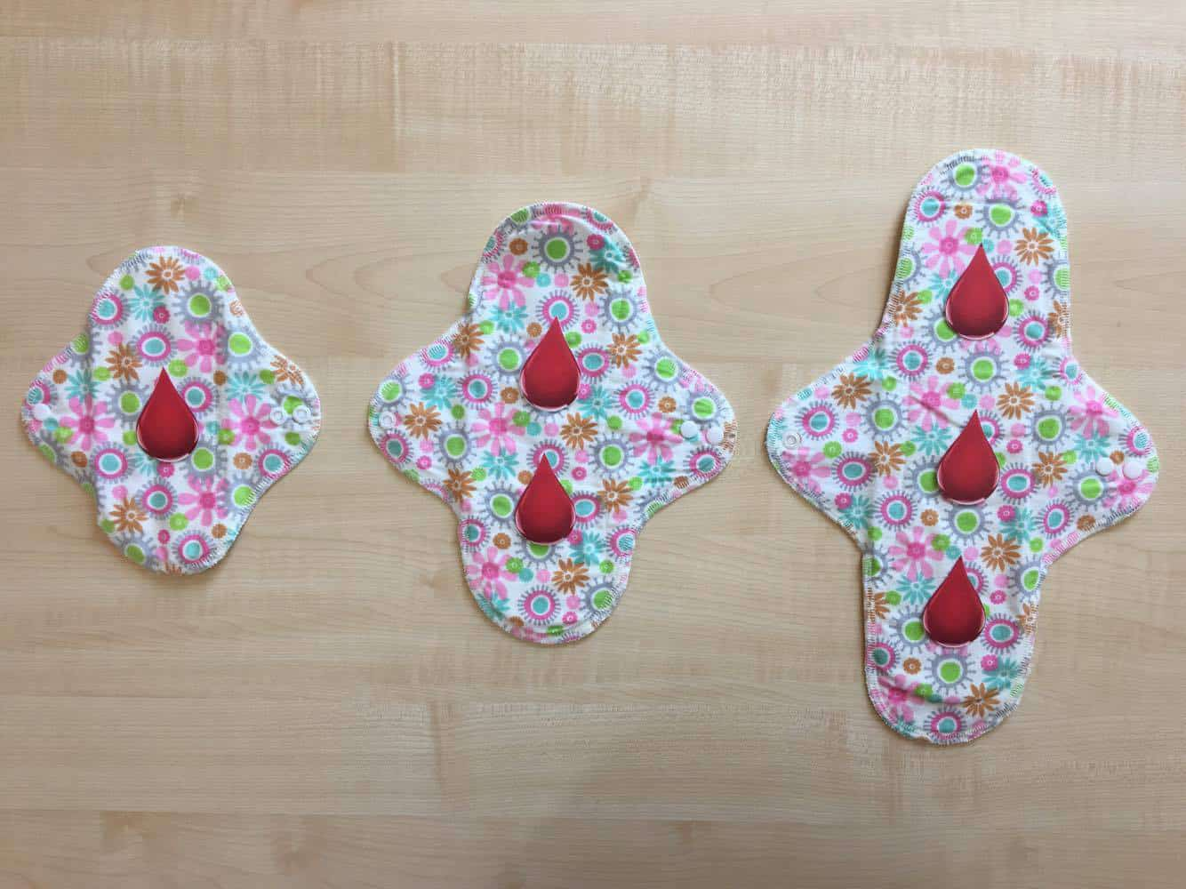 choosing the right size cloth pads